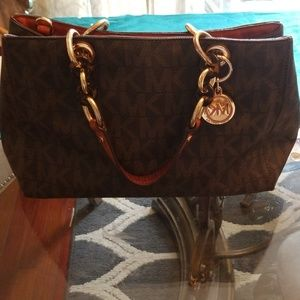 Michael Kors Cynthia Tortoise Accent bag